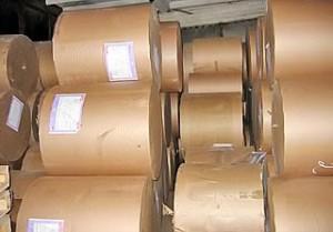Изготовление форзаца из рулонной бумаги.