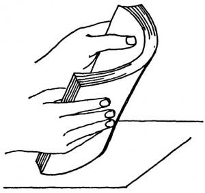 Сталкивание листов - рисунок.